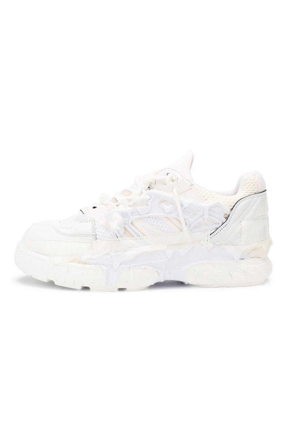 Мужские кожаные кроссовки fusion MAISON MARGIELA белого цвета, арт. S57WS0257/P2695 | Фото 3