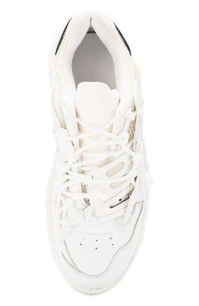 Мужские кожаные кроссовки fusion MAISON MARGIELA белого цвета, арт. S57WS0257/P2695 | Фото 5