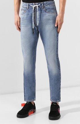 Мужские джинсы PALM ANGELS синего цвета, арт. PMYA013E196380067900 | Фото 3