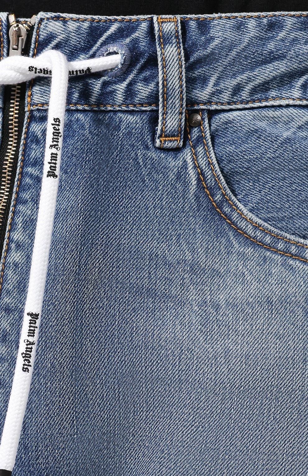 Мужские джинсы PALM ANGELS синего цвета, арт. PMYA013E196380067900 | Фото 5