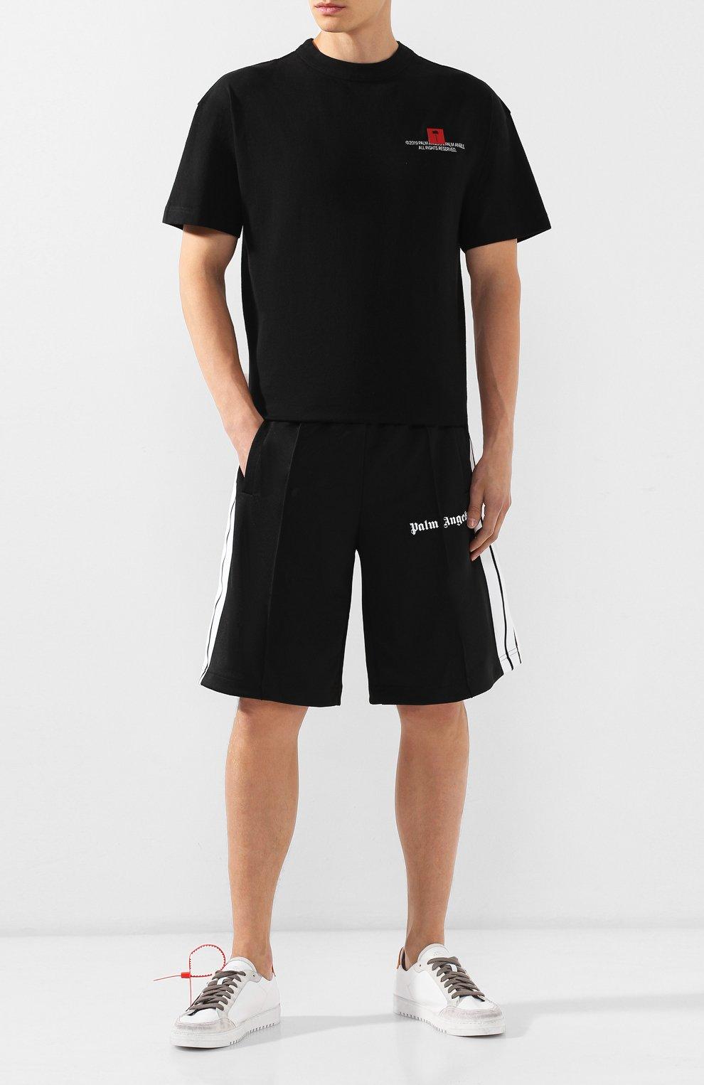 Мужские шорты PALM ANGELS черного цвета, арт. PMCB011E193840021001 | Фото 2