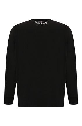 Мужская хлопковый лонгслив PALM ANGELS черного цвета, арт. PMAB001E194130021001 | Фото 1