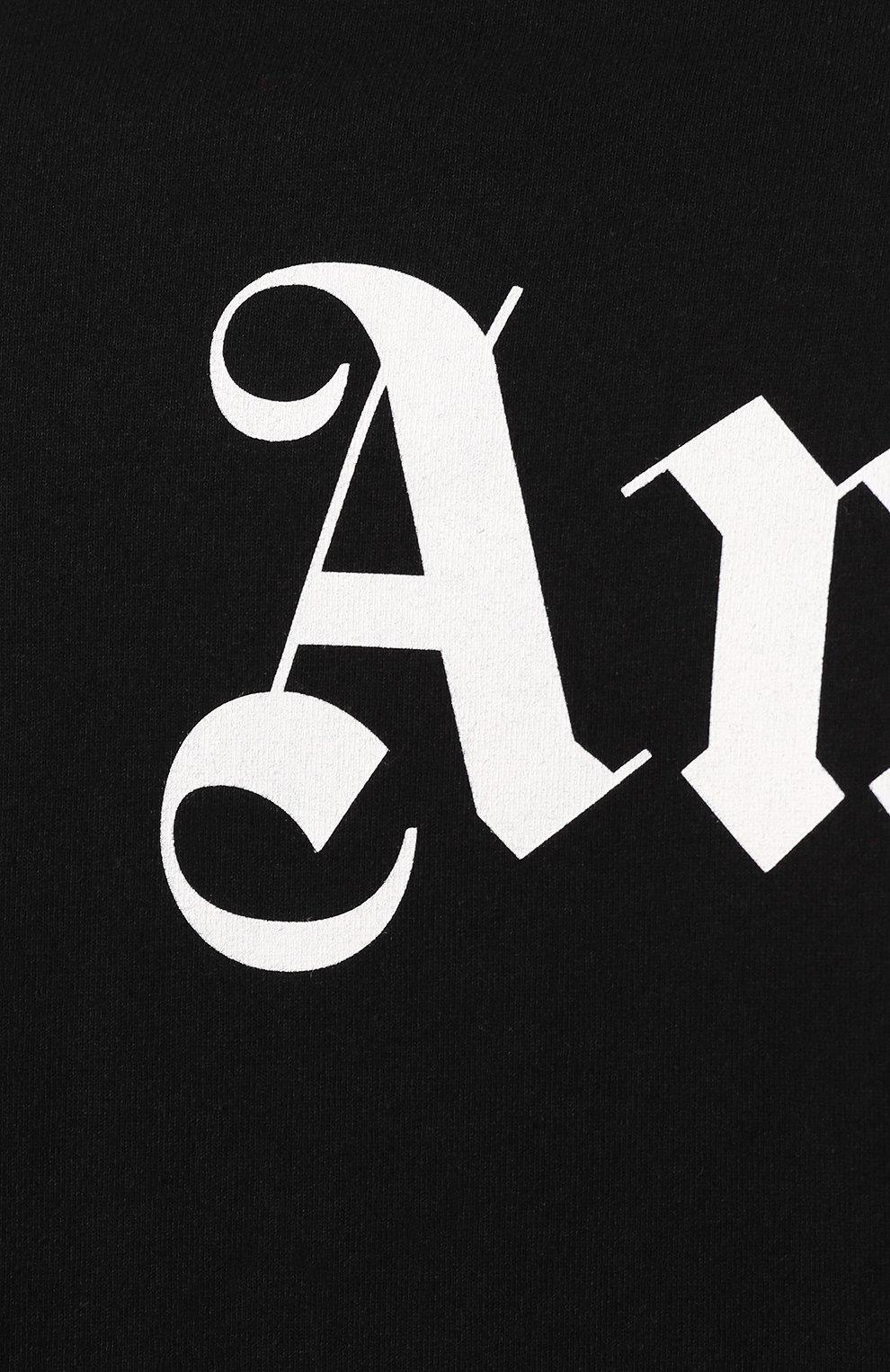 Мужская хлопковый лонгслив PALM ANGELS черного цвета, арт. PMAB001E194130021001 | Фото 5