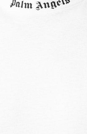 Мужская хлопковая футболка PALM ANGELS белого цвета, арт. PMAA002E194130020110 | Фото 5