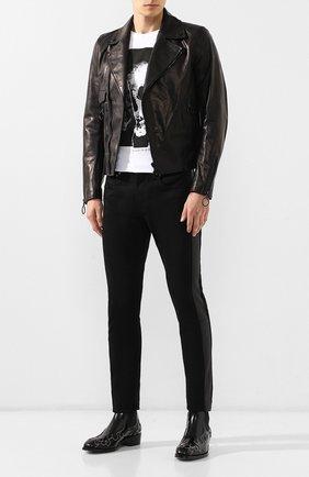 Мужские кожаные челси ALEXANDER MCQUEEN черного цвета, арт. 586179/WHKE3   Фото 2