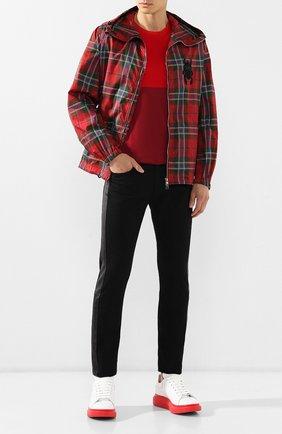 Мужские кожаные кеды ALEXANDER MCQUEEN красного цвета, арт. 553680/WHTQ4 | Фото 2