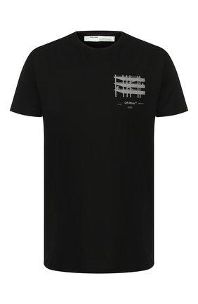 Мужская хлопковая футболка OFF-WHITE черного цвета, арт. 0MAA027E191850041091 | Фото 1