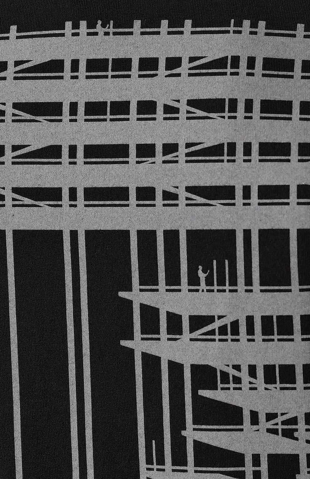 Мужская хлопковая футболка OFF-WHITE черного цвета, арт. 0MAA027E191850041091 | Фото 5