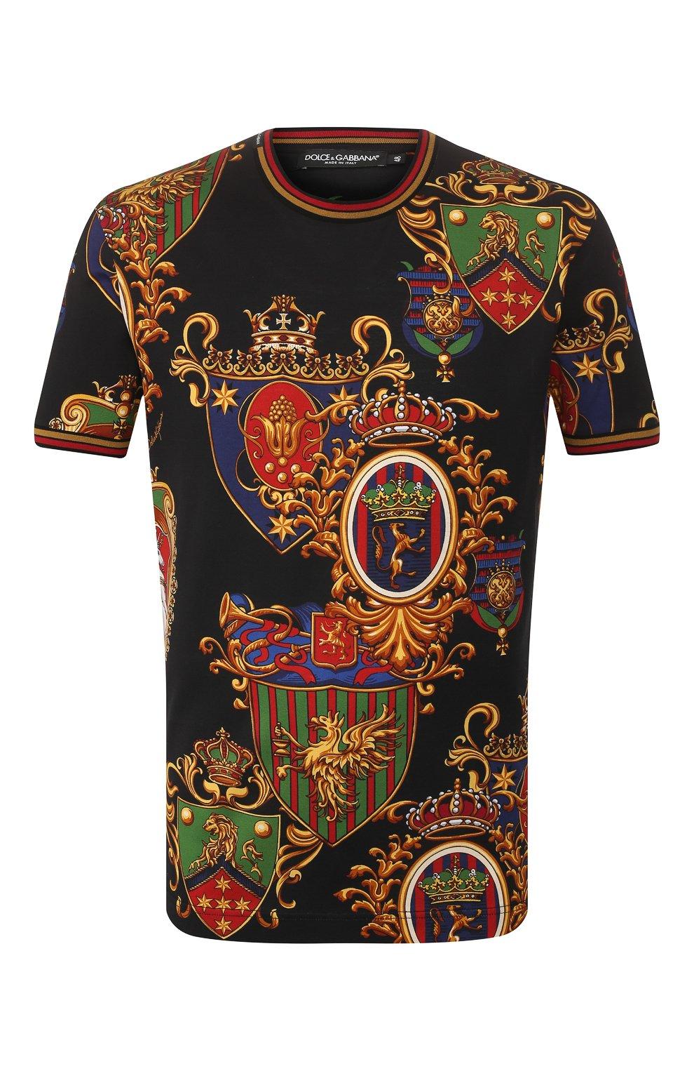 Мужская хлопковая футболка DOLCE & GABBANA разноцветного цвета, арт. G8KC0T/FS778 | Фото 1