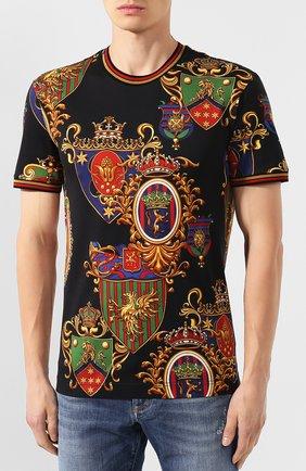 Мужская хлопковая футболка DOLCE & GABBANA разноцветного цвета, арт. G8KC0T/FS778 | Фото 3