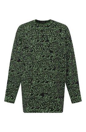 Мужской шерстяной свитер BALENCIAGA зеленого цвета, арт. 583085/T1532 | Фото 1