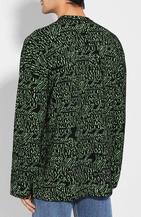 Мужской шерстяной свитер BALENCIAGA зеленого цвета, арт. 583085/T1532 | Фото 4