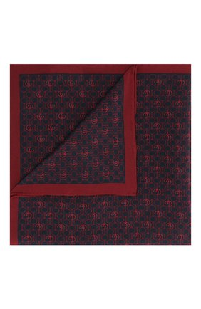 Мужской шелковый платок GUCCI красного цвета, арт. 573510/4G005 | Фото 1