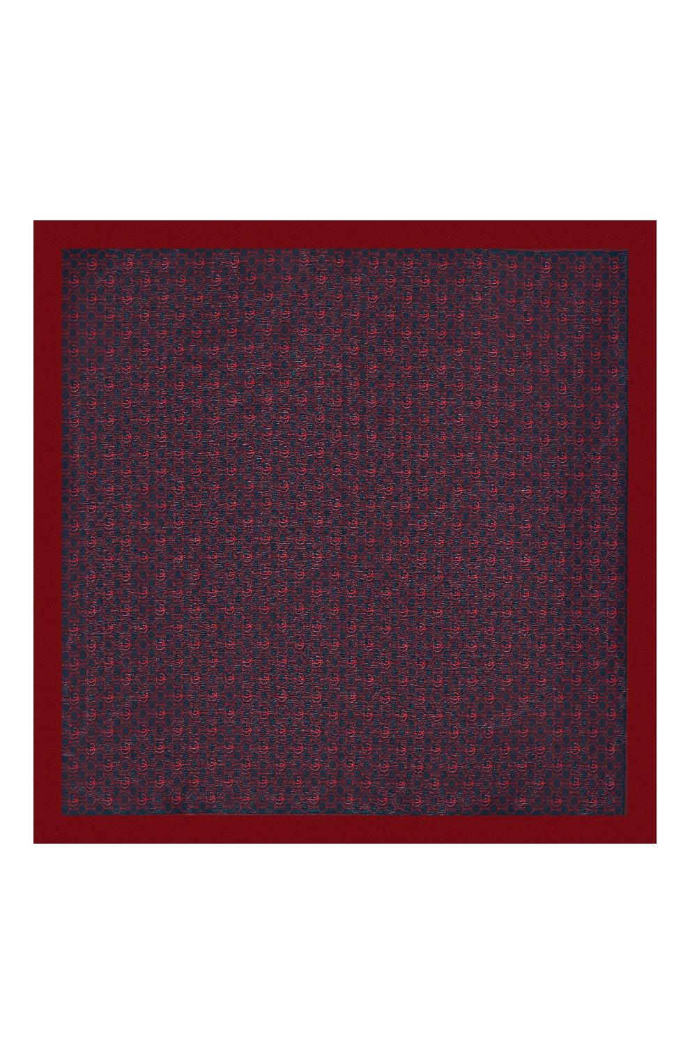 Мужской шелковый платок GUCCI красного цвета, арт. 573510/4G005 | Фото 3