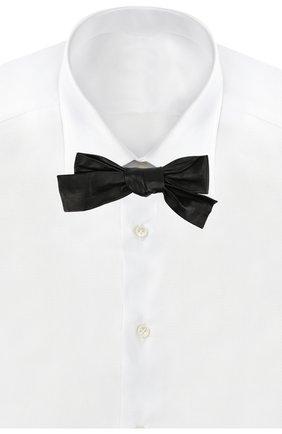 Женский кожаный галстук-бабочка SAINT LAURENT черного цвета, арт. 365311/3Y558 | Фото 2