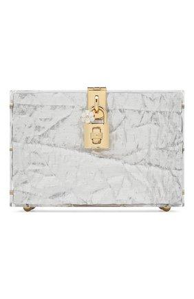 Женская сумка dolce box DOLCE & GABBANA серебряного цвета, арт. BB6237/AA081 | Фото 1