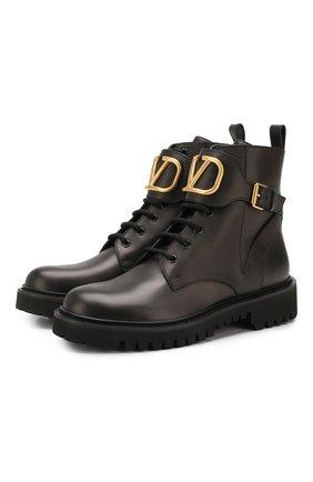 Кожаные ботинки Valentino Garavani Go Logo | Фото №1