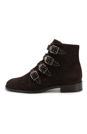 Женские замшевые ботинки PERTINI темно-коричневого цвета, арт. 192W12901C5 | Фото 3