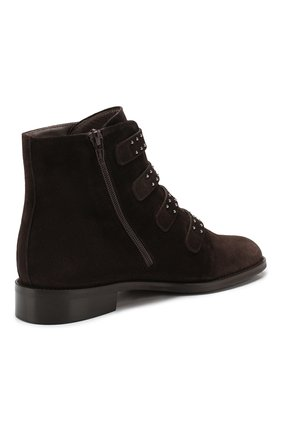 Женские замшевые ботинки PERTINI темно-коричневого цвета, арт. 192W12901C5 | Фото 4