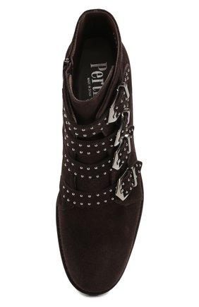 Женские замшевые ботинки PERTINI темно-коричневого цвета, арт. 192W12901C5 | Фото 5
