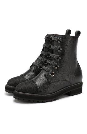 Женские кожаные ботинки PERTINI черного цвета, арт. 192W13936C1   Фото 1
