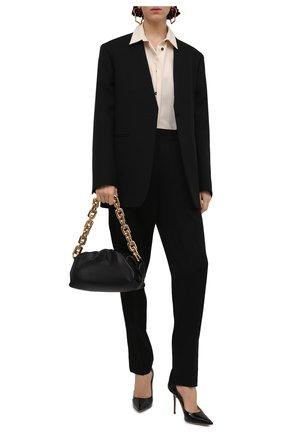 Женские кожаные туфли love 100 JIMMY CHOO черного цвета, арт. L0VE 100/PWJ | Фото 2