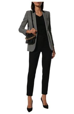 Женская замшевые туфли love 100 JIMMY CHOO черного цвета, арт. L0VE 100/BWJ | Фото 2
