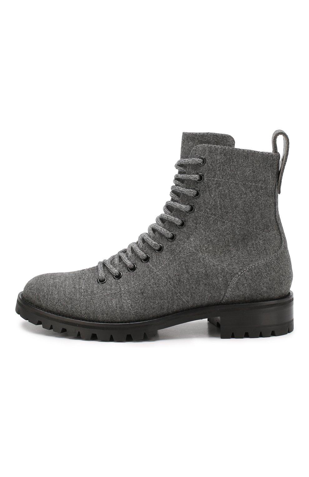 Женские текстильные ботинки cruz JIMMY CHOO темно-серого цвета, арт. CRUZ FLAT/FLN | Фото 3