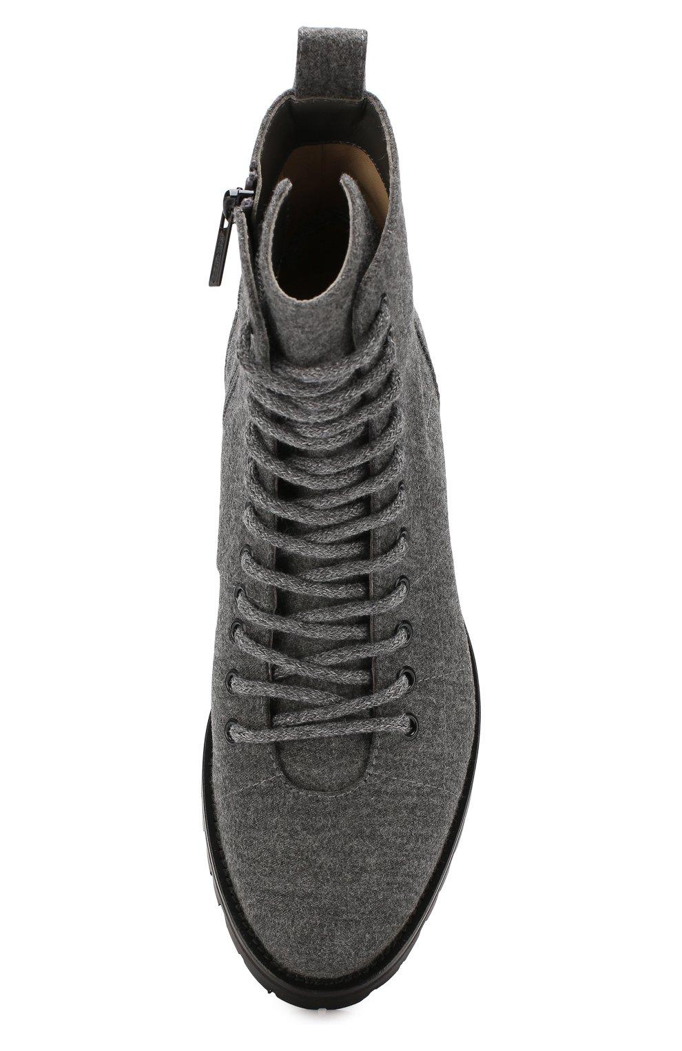 Женские текстильные ботинки cruz JIMMY CHOO темно-серого цвета, арт. CRUZ FLAT/FLN | Фото 5