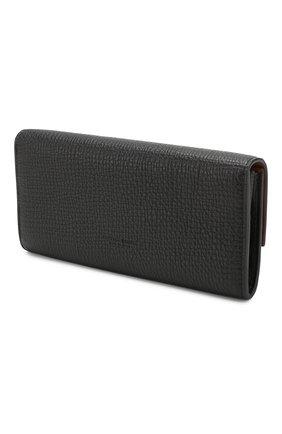 Женские кожаный кошелек BOTTEGA VENETA черного цвета, арт. 576638/VMA02 | Фото 2