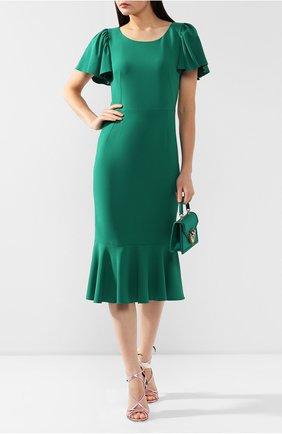 Женское платье DOLCE & GABBANA зеленого цвета, арт. F6E3HT/FURDV | Фото 2