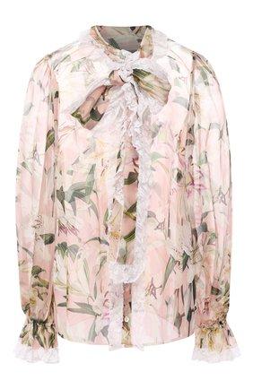 Блузка из смеси шелка и хлопка | Фото №1