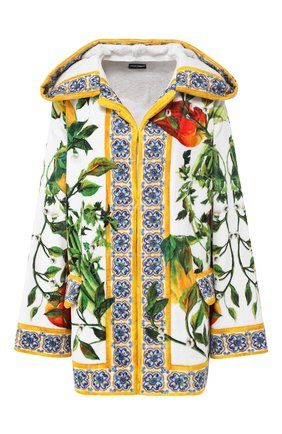 Женский хлопковый халат DOLCE & GABBANA разноцветного цвета, арт. 00A02J/0MU83 | Фото 1
