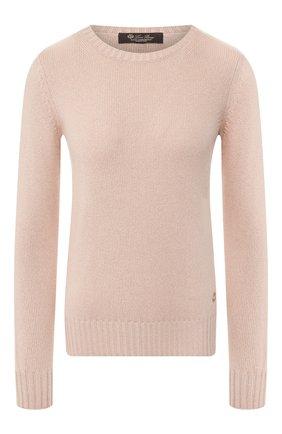 Женский кашемировый пуловер LORO PIANA светло-розового цвета, арт. FAG3539   Фото 1