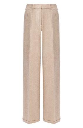 Женские брюки из смеси шерсти и кашемира KITON бежевого цвета, арт. D48110K04S09 | Фото 1