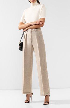Женские брюки из смеси шерсти и кашемира KITON бежевого цвета, арт. D48110K04S09 | Фото 2