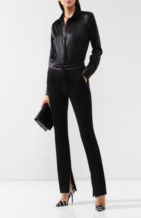 Женские брюки из смеси хлопка и шелка TOM FORD черного цвета, арт. PAJ045-FAX351 | Фото 2