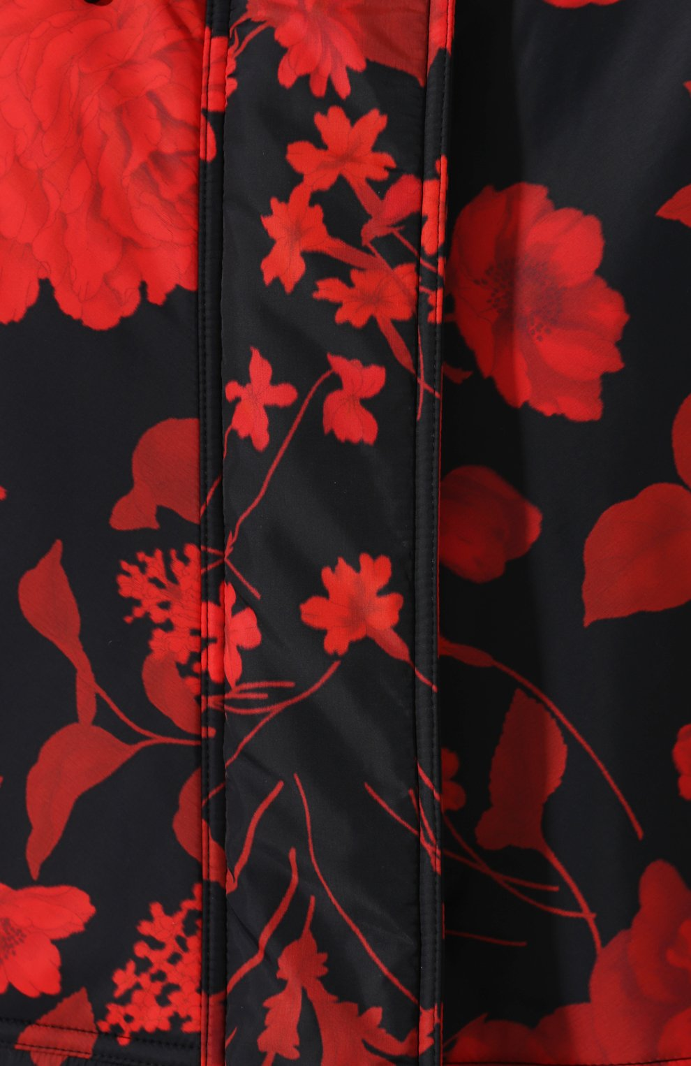 Женский пуховик с принтом VALENTINO черного цвета, арт. SB3CJ1304RS | Фото 5