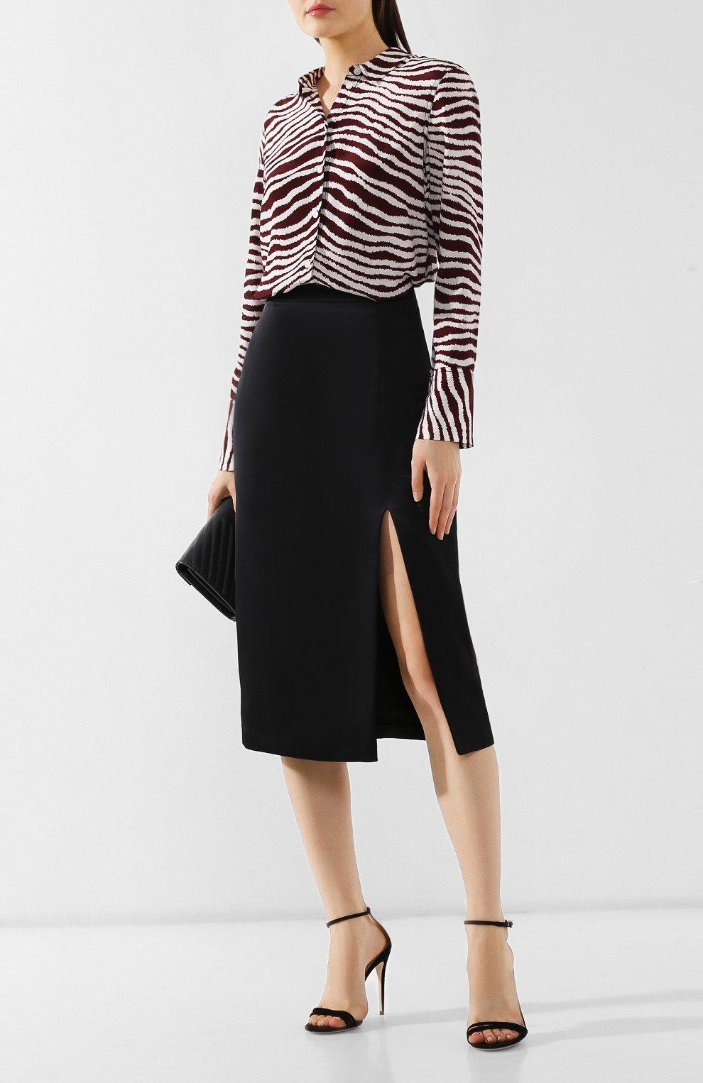 Женская юбка с разрезом PAUL&JOE черного цвета, арт. K0RTENSE   Фото 2