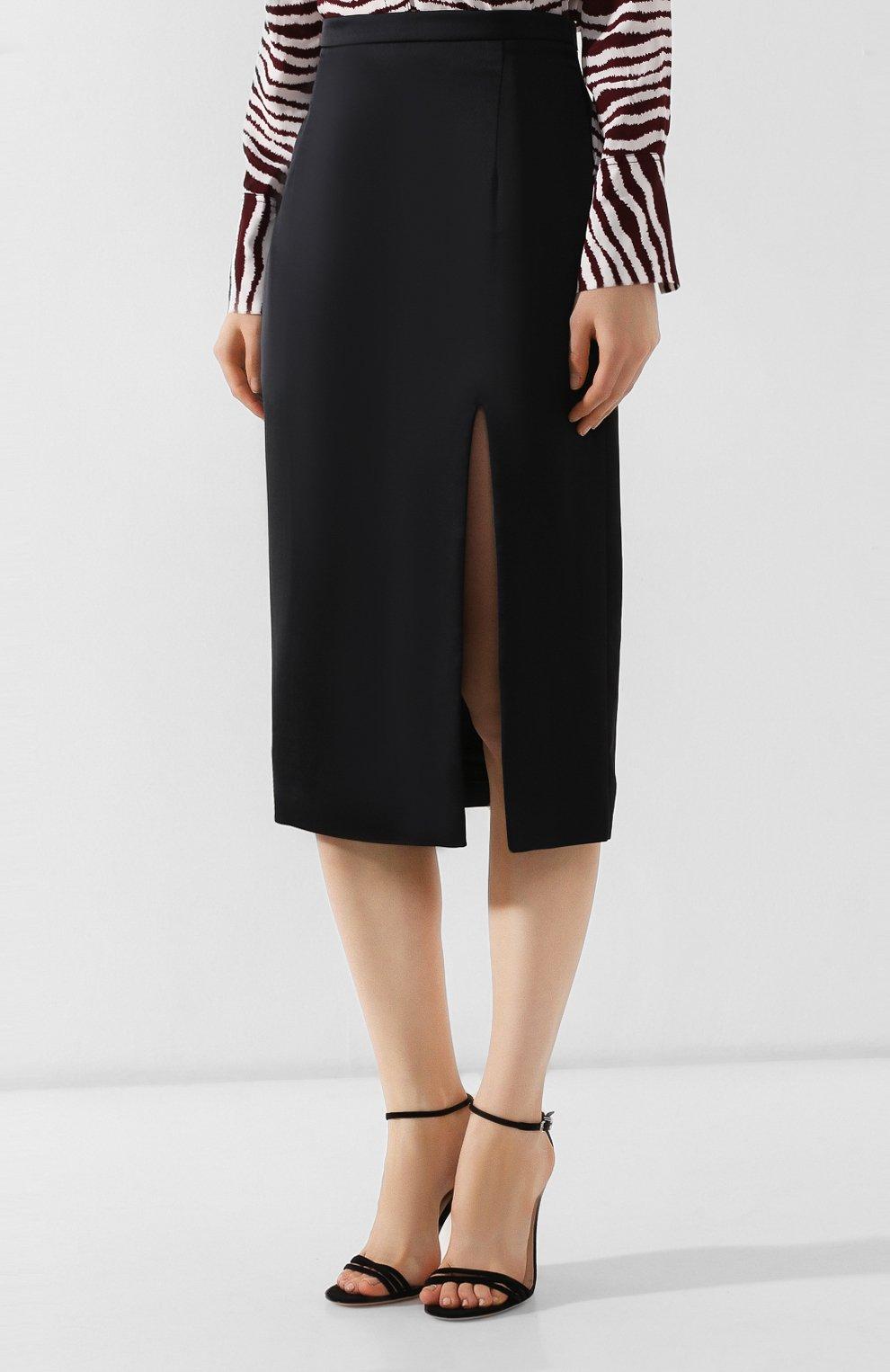 Женская юбка с разрезом PAUL&JOE черного цвета, арт. K0RTENSE   Фото 3