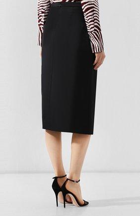 Женская юбка с разрезом PAUL&JOE черного цвета, арт. K0RTENSE   Фото 4