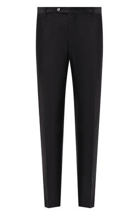 Мужской шелковые брюки DOLCE & GABBANA черного цвета, арт. GYTYET/FU1L5 | Фото 1
