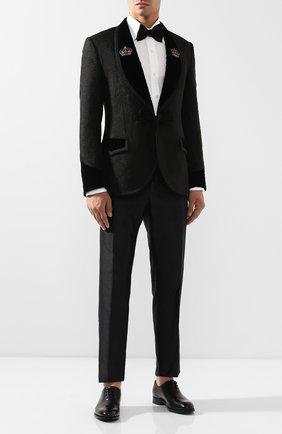 Мужской шелковые брюки DOLCE & GABBANA черного цвета, арт. GYTYET/FU1L5 | Фото 2