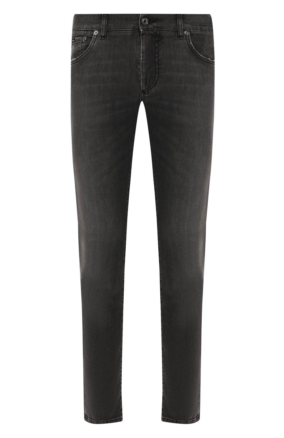 Мужские джинсы DOLCE & GABBANA темно-серого цвета, арт. GY07LD/G8AZ9   Фото 1