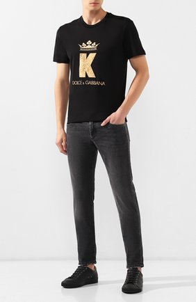 Мужские джинсы DOLCE & GABBANA темно-серого цвета, арт. GY07LD/G8AZ9   Фото 2
