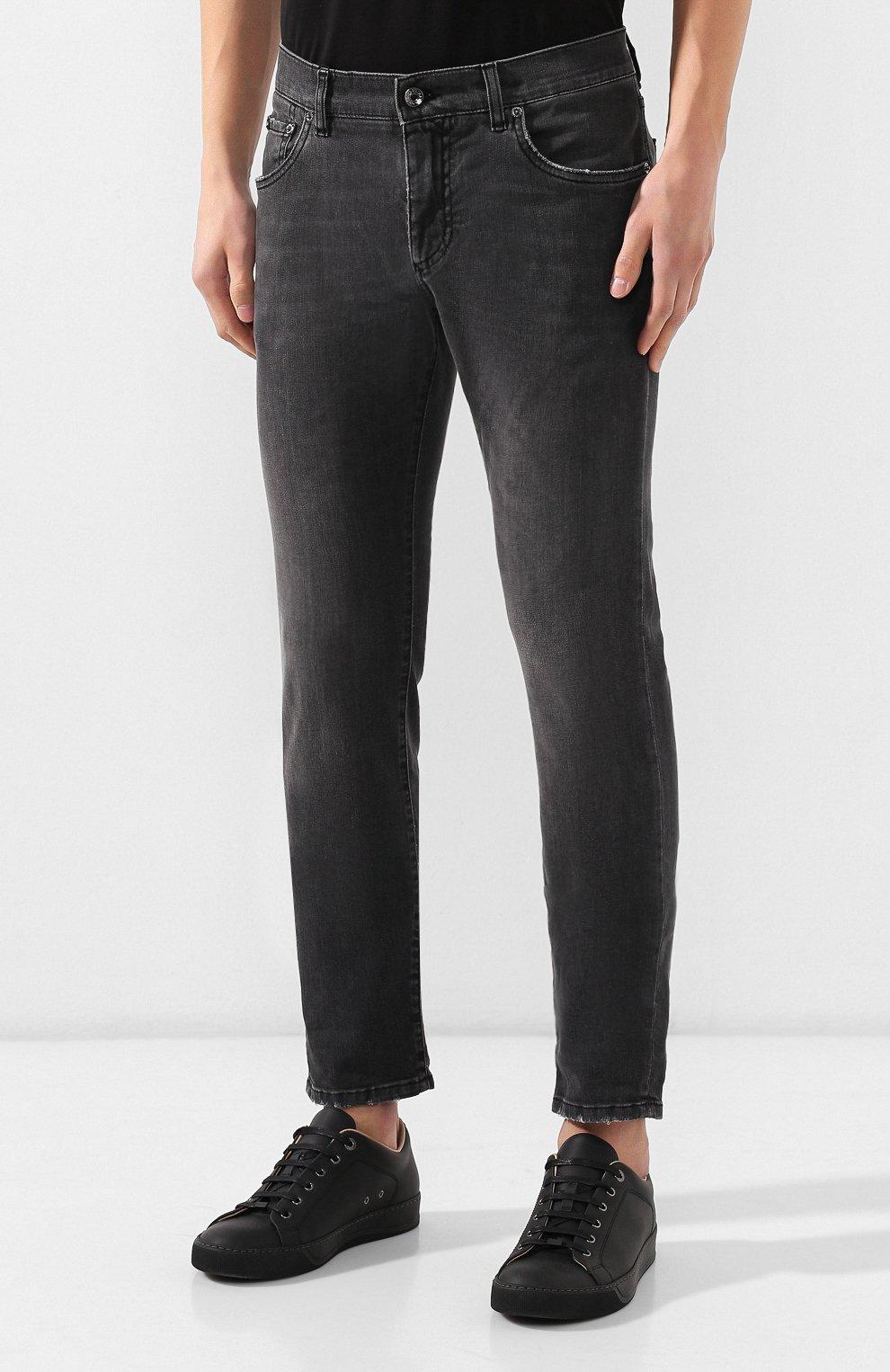 Мужские джинсы DOLCE & GABBANA темно-серого цвета, арт. GY07LD/G8AZ9   Фото 3