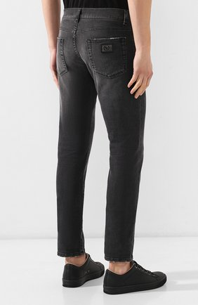 Мужские джинсы DOLCE & GABBANA темно-серого цвета, арт. GY07LD/G8AZ9   Фото 4