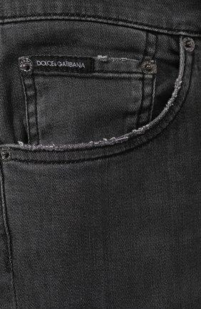 Мужские джинсы DOLCE & GABBANA темно-серого цвета, арт. GY07LD/G8AZ9   Фото 5