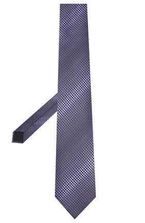 Мужской шелковый галстук ERMENEGILDO ZEGNA фиолетового цвета, арт. Z6E09/1XW | Фото 2