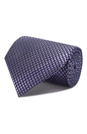 Мужской шелковый галстук ERMENEGILDO ZEGNA фиолетового цвета, арт. Z6E09/1UM | Фото 1